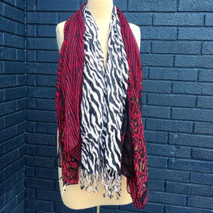 Animal Print Scarf Lot (2)